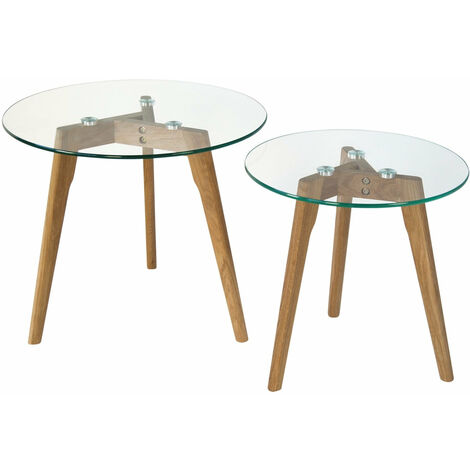 Set bois pied plateau en tables en basses verre de deux tQdrCsh