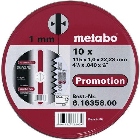 Set de disques à tronçonner en inox Metabo 616358000 Ø 115 mm 10 pc(s)