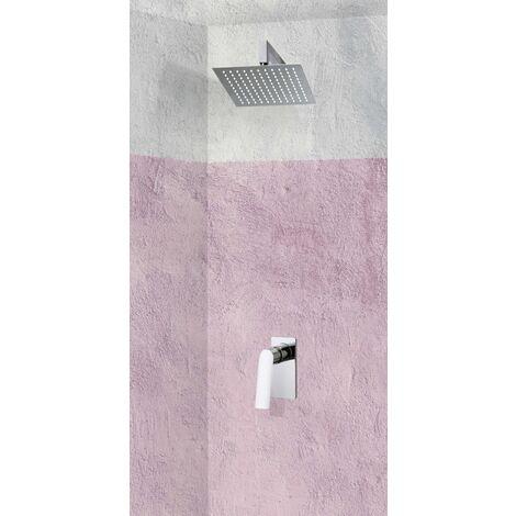 Set de douche encastrable complet mural mécanique avec tuyauterie FANO