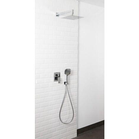 Set de douche encastrable complet mural mécanique avec tuyauterie MILANA +