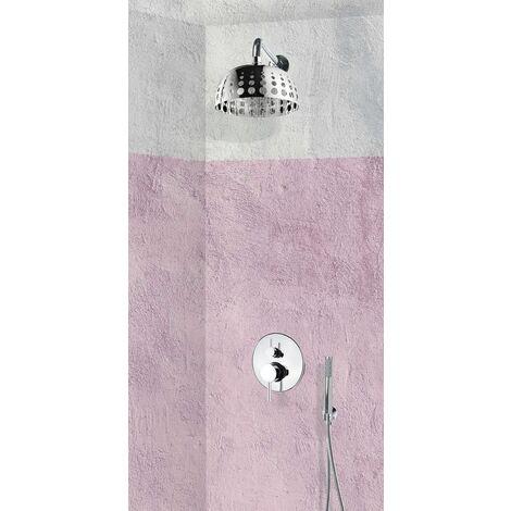 Set de douche encastrable complet mural mécanique avec tuyauterie PRATO