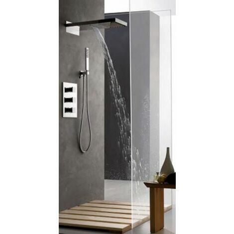 Set de douche encastrable complet mural thermostatique avec tuyauterie TASCADA