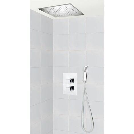 Set de douche encastrable complet plafond thermostatique avec tuyauterie PISTOIA