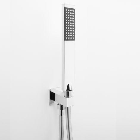Set de douche mural Ares avec douchette modèle «JOY» en laiton (code 74608)