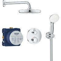 Set de douche Tempesta 210 avec thermostat encastré, chrome (34727000)
