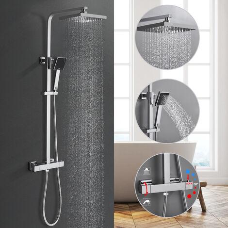 Set de ducha con termostato, sistema de ducha de lluvia, grifo de ducha, grifo de ducha, grifo de baño, mezclador de pared, juego de ducha de lluvia, grifo mezclador de ducha
