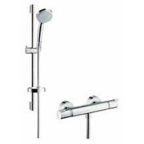 Set de ducha termostática Combi Croma 100 Vario Ecostat 27034000 de Hansgrohe