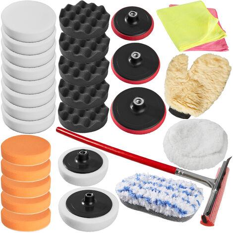 Set de esponjas de pulido 29 piezas - esponjas para pulidora profesional, set de accesorios para pulir para máquina pulidora, disco enroscable de rotación para pulido - Varios colores