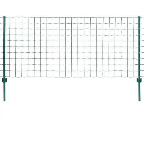 Set de Euro Valla 20x1 m acero verde