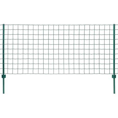 Set de Euro Valla 20x1,5 m acero verde