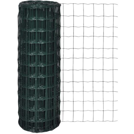 Set de euro valla acero verde 10x0,8 m