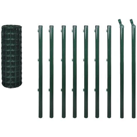Set de euro valla acero verde 10x1 m