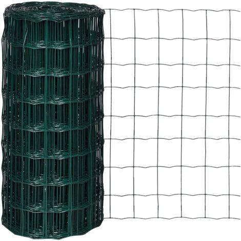 Set de euro valla acero verde 25x0,8 m