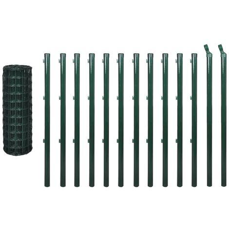Set de euro valla acero verde 25x1 m