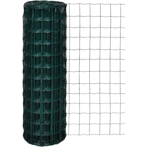 Set de euro valla acero verde 25x1,2 m