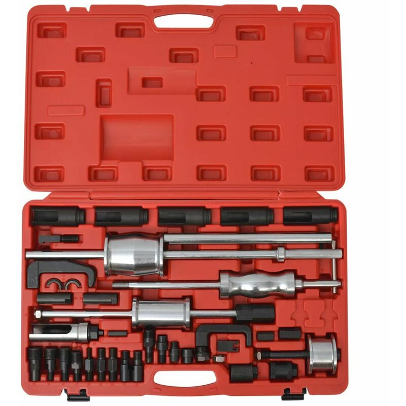 Asupermall - Set de extractores de inyector diesel acero