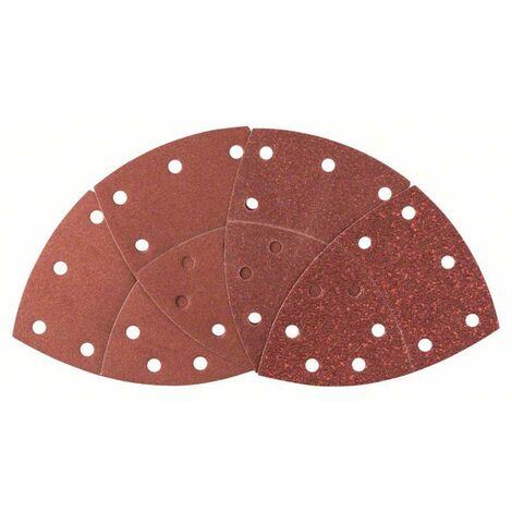Set de feuilles abrasives pour ponceuse Multi avec bande auto-agrippante, perforé Bosch Accessories 2607017112 Grain 40, 80, 120, 180 (L x l) 102 mm x 62.93 mm
