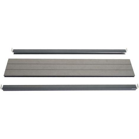 Set de finition pour brise-vue WPC Sarthe, profil de finition brise-vent, poteaux WPC ~ 180cm, gris