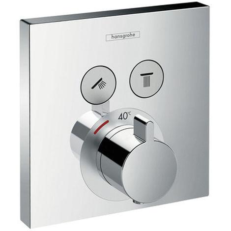Set de finition pour mitigeur thermostatique ShowerSelect encastré avec 2 sorties chromé