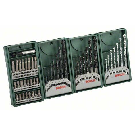 Set de forets et embouts Bosch Accessories Mini-X-Line Multipack