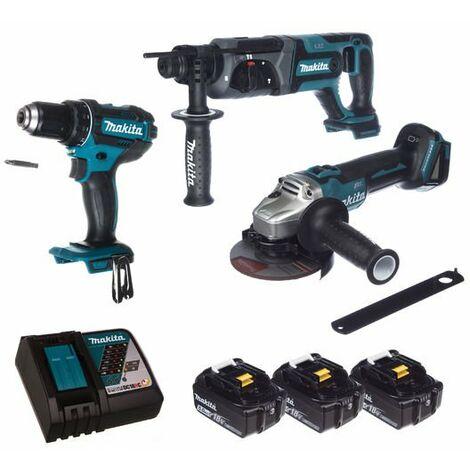 Set de herramientas eléctricas de 18V Makita DLX3078TX1