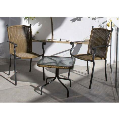 Set de jardín modelo TOLEDO 003. Mesa + dos sillas