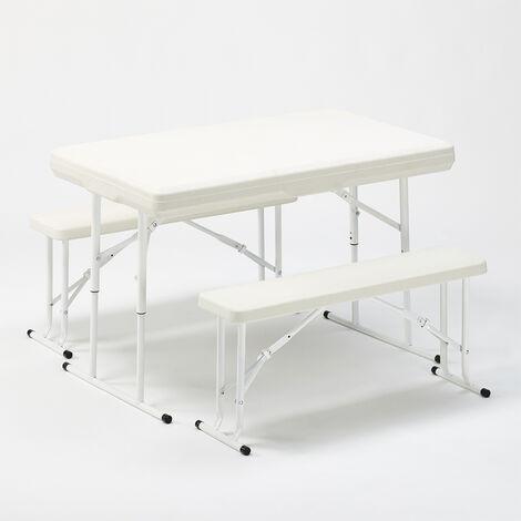 Set de Jardín PICNIC bancos y mesa plegables 113x68x74
