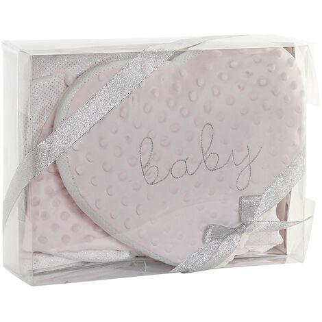 Set de Manta y Cojín Estrella para Bebés, Regalo recién Nacido. Manta Bebé Suave 75x100cm - Hogar y Más Rosa claro