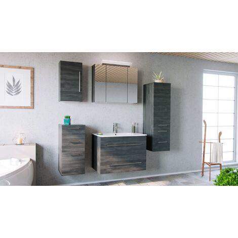 Set de mueble de baño OPTIMO 80cm (5 partes) Gris grafito