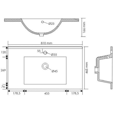 Set de mueble de baño OPTIMO 80cm (6 partes) Roble claro