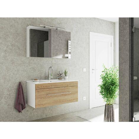 Set de mueble de baño SANTINI 100 2 Partes Roble claro