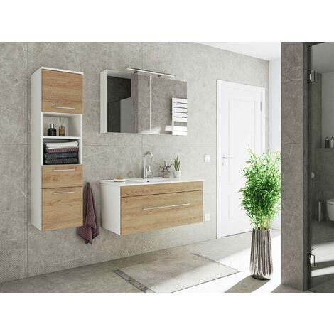 Set de mueble de baño SANTINI 100 3 Partes Roble claro