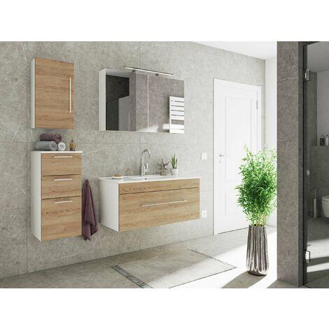 Set de mueble de baño SANTINI 100 4 Partes Roble claro