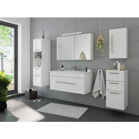 Set de mueble de baño SANTINI 5 Partes Blanco brillante