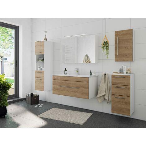 Set de mueble de baño SANTINI 5 Partes Roble claro