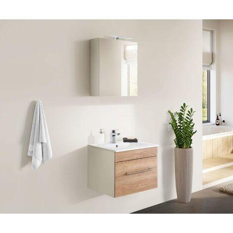 Set de mueble de baño SANTINI 60 2 Partes Roble claro