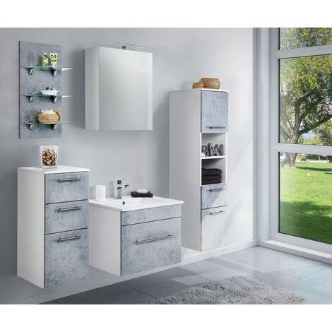 Set de mueble de baño SANTINI 60 5 Partes Gris hormigón