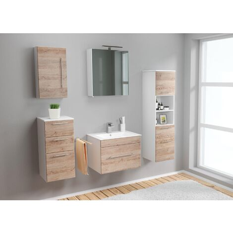 Set de mueble de baño SANTINI 60 (5-partes) roble claro