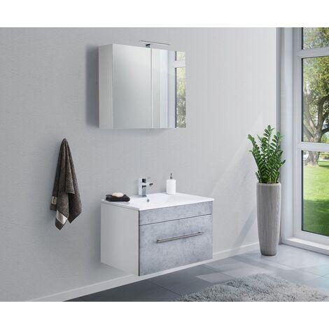 Set de mueble de baño SANTINI 75 2 Partes Gris hormigón