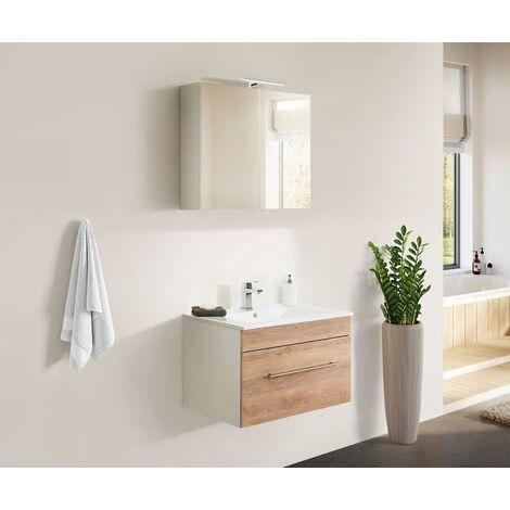 Set de mueble de baño SANTINI 75 2 Partes Roble claro