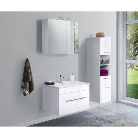 Set de mueble de baño SANTINI 75 3 Partes Blanco brillante