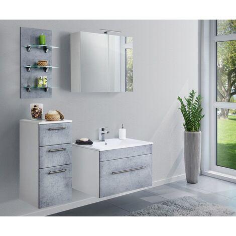 Set de mueble de baño SANTINI 75 4 Partes Gris hormigón