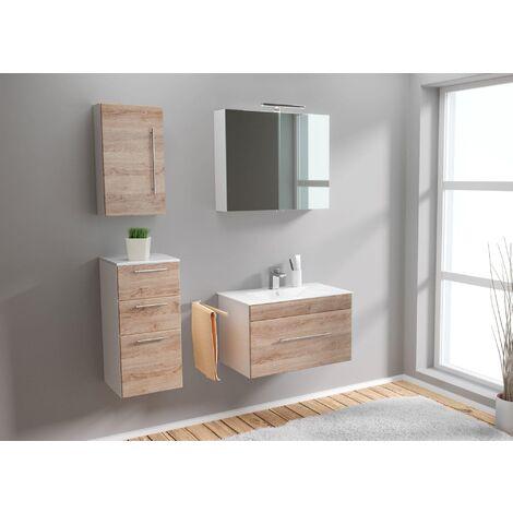 Set de mueble de baño SANTINI 75 (4-partes) roble claro