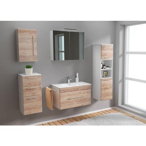 Set de mueble de baño SANTINI 75 5 Partes Roble claro