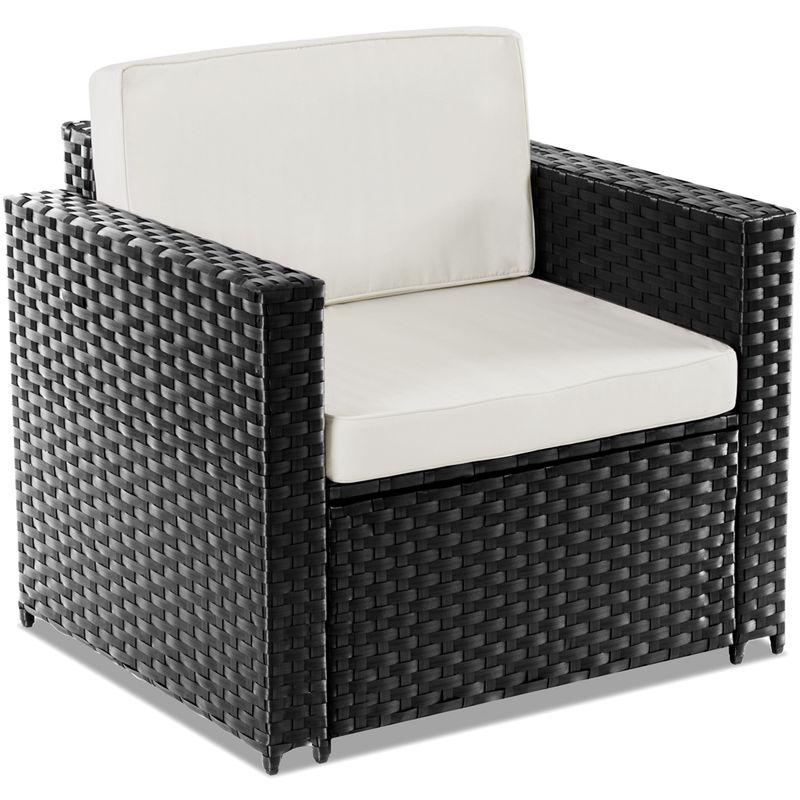 Terraza Jardin De Set 4pc Ratan Sofa Sintetico Muebles
