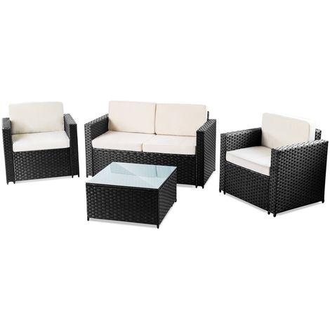 6942f565 Set de muebles jardin terraza MESSINA 4pc ratan sintetico sofa exterior - McHaus