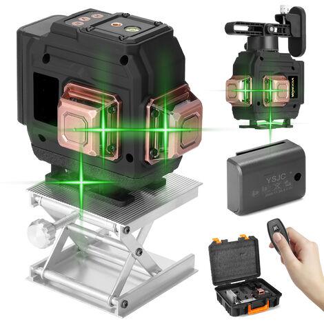 Set de niveau laser multifonction KKmoon 3D 12 lignes, EU 220V, avec deux batteries