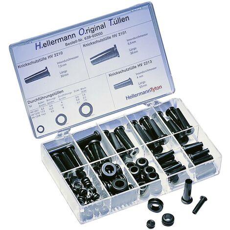 Set de passe-fils anti-pliure HellermannTyton HOTKIT 639-60000 PVC 100 parties S17913