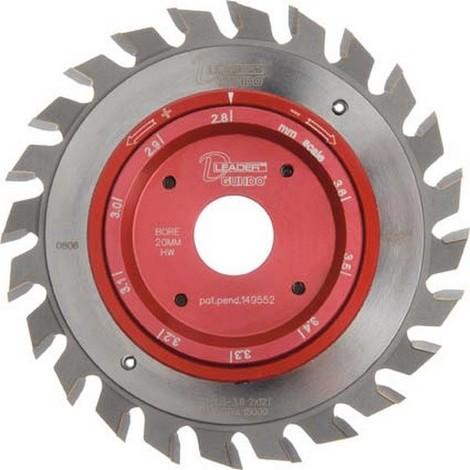 Set de pré-demi-coupe, scies circulaires Format Ritz-Quick, Ø : 120 mm, Larg. : 2,8-3,6 mm, Alésage 22 mm, Dents : 12 x 2, Type de denture : V