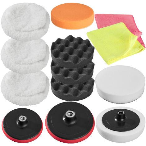 Set de pulido 13 piezas - esponjas para pulidora profesional, set de accesorios para pulir para máquina pulidora, disco atornillable de rotación para pulido - Varios colores